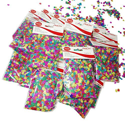 SupaCute Birthday Party Paper Confetti - 16 Bags - Laguna Green
