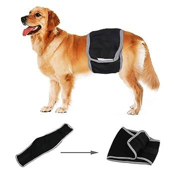 L-Peach Pañal Sanitario para Perros Envoltura para Machos Incontinencia Urinaria Banda Enfermería Lavable y