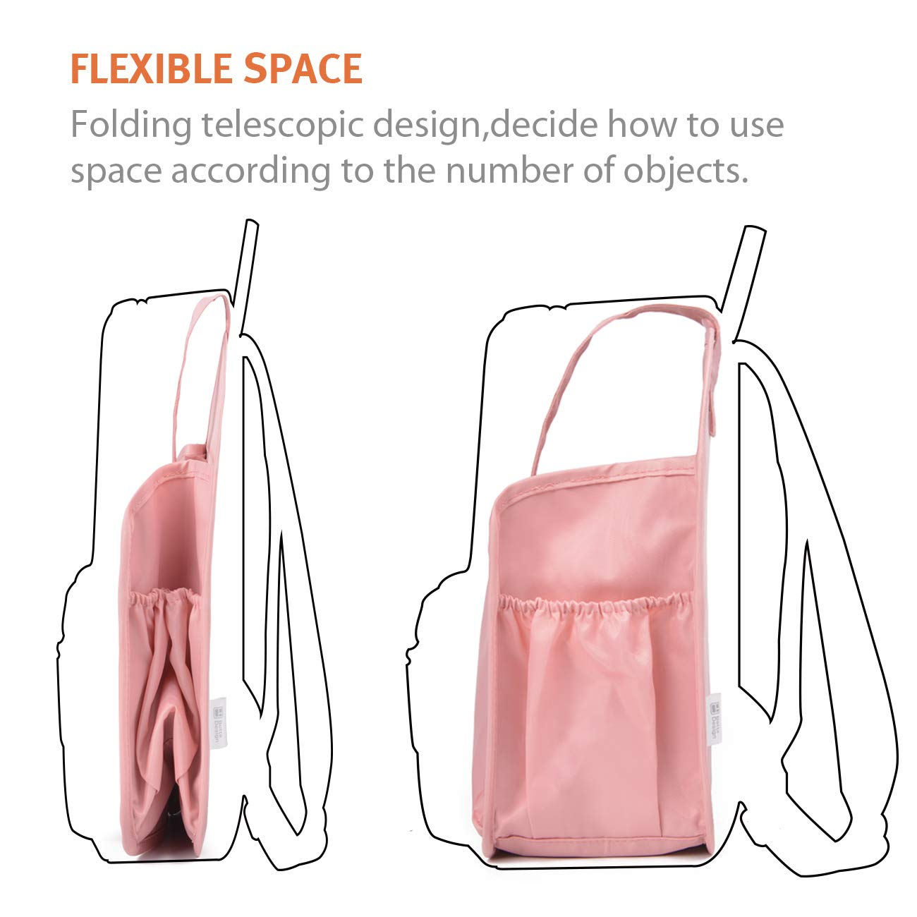 BES CHAN Backpack Organizer Insert Purse Liner with Carry Handle Diaper Storage-S//L