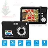HD Mini Digital Camera with 2.7 Inch TFT LCD Display,Kids Childrens Point and Shoot Digital Video Cameras Black--Sports,Travel,Holiday,Birthday Present