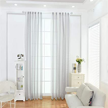 Tende in tulle a righe moderne per soggiorno e finestre, B ...