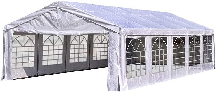 Quictent Tienda de campaña para Fiestas de 20 pies x 32 pies, toldo galvanizado para Bodas, Refugio al Aire Libre con Bolsas de Transporte: Amazon.es: Jardín
