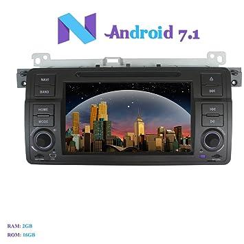 Android 7.1 Autoradio, Hi-azul 1 Din Radio de Coche In-Dash Navegación