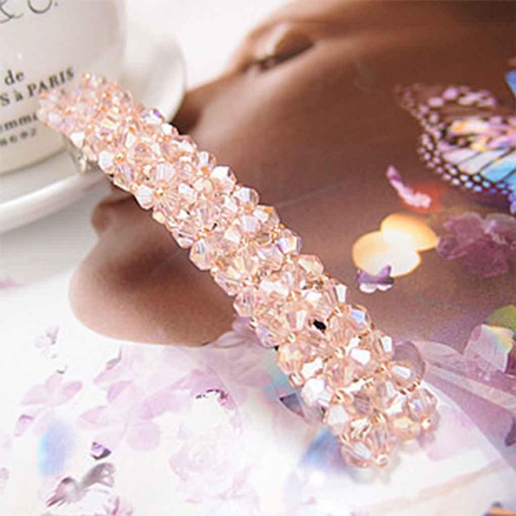 Elenxs Women Girls Bling Crystal Hair Clip Hairpin Hair Claw