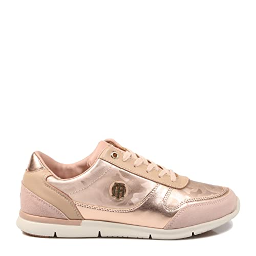 fefca1cac72be0 Tommy Hilfiger Camo Metallic Light Trainers Pink  Amazon.co.uk ...