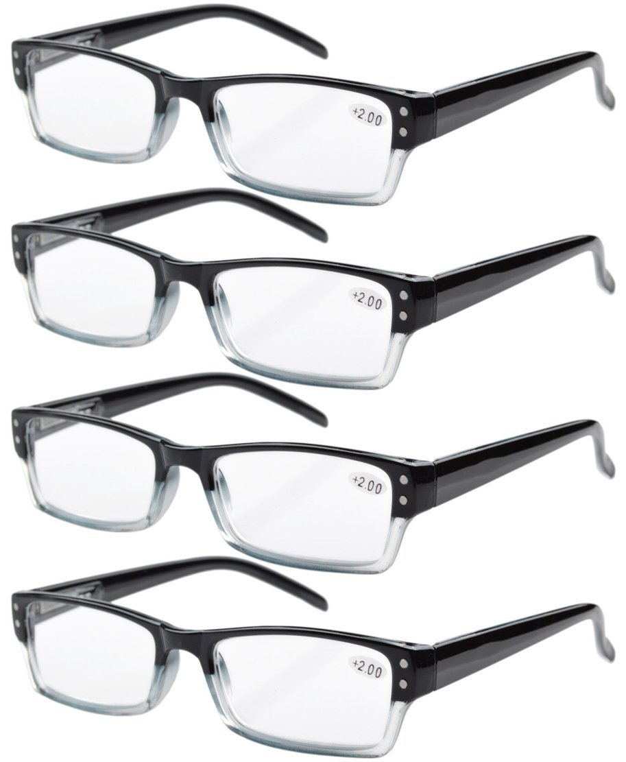bbd58b2a2373 Amazon.com  Eyekepper Spring Hinges Reading Glasses Includes Sun ...