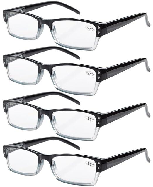 183 opinioni per 4-pack primavera Cerniere occhiali da lettura rettangolare include lettori di