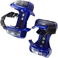Nouveau Patins à roulettes clignotant tailles réglable LED Bleu