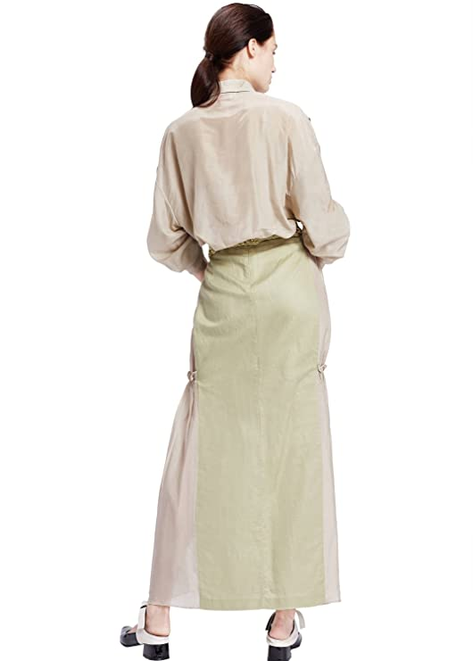0e60e0c571f My Bun 2017 Summer Women Plus Size Cotton Linen Temperament Long Skirts  with Tops Two Piece Sets at Amazon Women s Clothing store