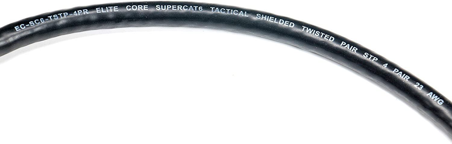 10 ft Booted RJ45 Connectors 10 Elite Core SUPERCAT6 |Ultra-Durable Shielded Tactical CAT6 SUPERCAT6-S-RR-10