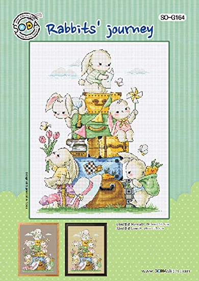 Color Printed on Coated Paper Cross Stitch Pattern Chart SODA Cross Stitch Pattern Leaflet SO-G172 Kitten Friends Authentic Korean Cross Stitch Design