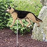 Cheap German Shepherd Outdoor Garden Dog Sign Hand Painted Figure Tan w/ Black Saddle