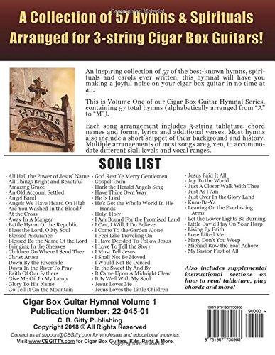 Amazon.com: Cigar Box Guitar Hymnal Volume 1: 57 Classic Christian ...