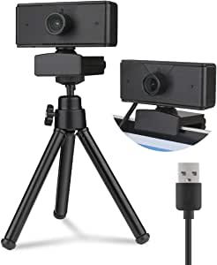 1080P Webcam with Built-in microphone,Full HD Adjustable Web Camera with cover and Tripod for Laptop,Desktop,Computer,PC / USB 2.0,Plug and Play,for Windows Mac OS, for Video Streaming, Conference, Gaming, Online Classes,Recording