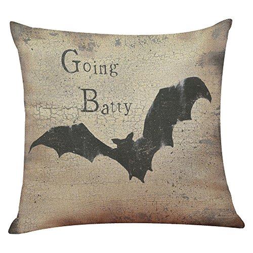 CHIDY Square Zipper Halloween Pumpkin Pillow Cases Linen Sofa Cushion Cover Home Decor