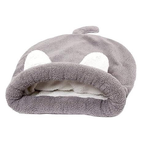 POPETPOP Cómoda y Cálida Cama para Mascotas, Saco de Dormir de Felpa para Perros Gatos