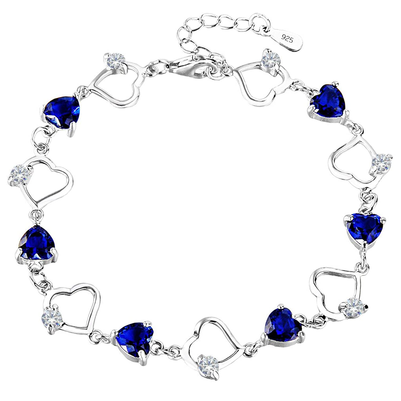 "Sterling Silver White CZ Tennis Bracelet 7.2 /"" Length"