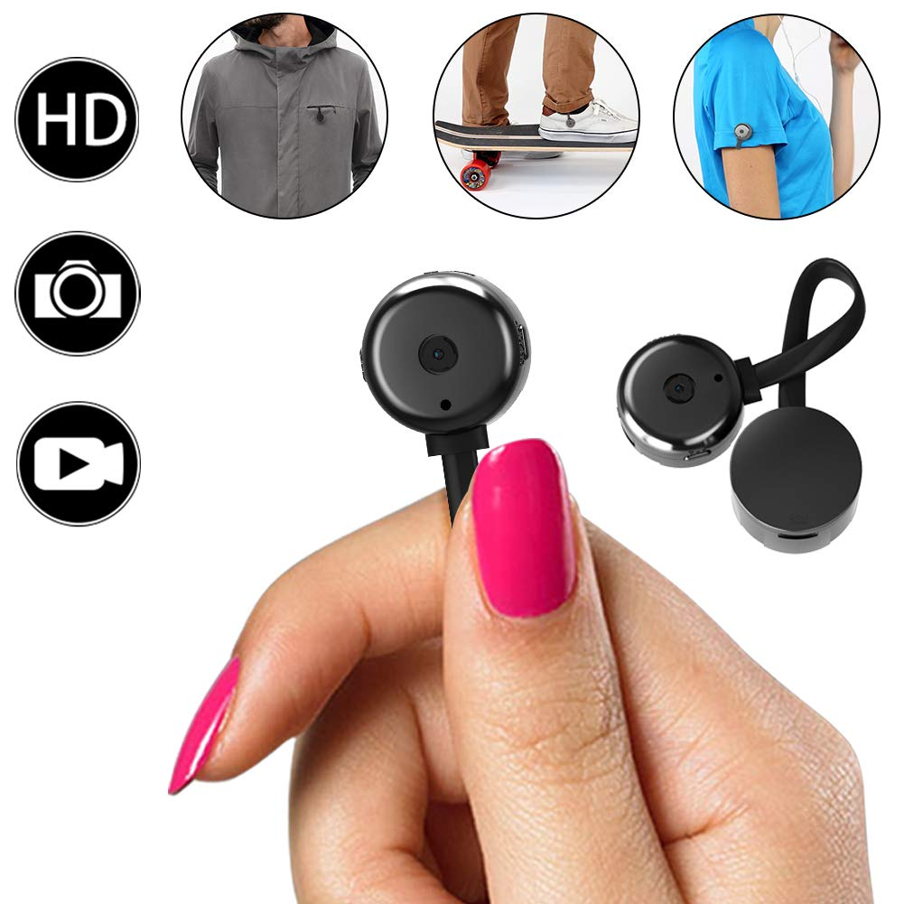 Hidden Camera, Spy mini Cameras,HD 720P Smallest Nanny Cam Portable Video  Recorder with Motion Detective Perfect Outdoor Covert Pocket Camcorder for
