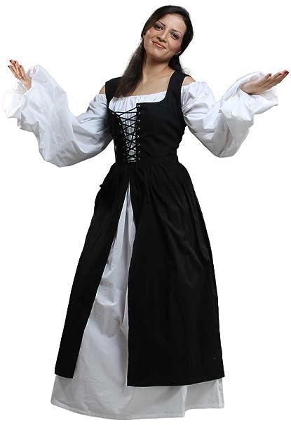 ThePirateDressing Medieval Ameline diseño de Traje diseño de Piratas para Renaissance [en Color Negro]