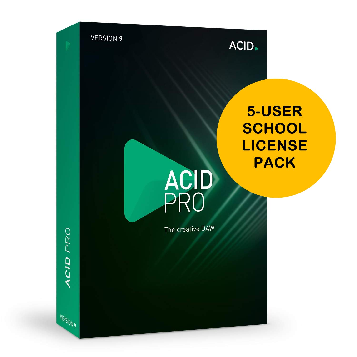 MAGIX Acid Pro 9 5-User School License [Download Card] - Loop-Based Music Production, Powerful Multitrack Recording, Creative DAW