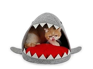 Cama para Perro, Cama para Gato, Cama de Mascota, Suave Sofá Cesta Modelado de Tiburones DC01070: Amazon.es: Deportes y aire libre