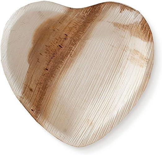 Palmenblatt-Geschirr Bio-Einweggeschirr Palmenteller Einweggeschirr super stark Partygeschirr umweltfreundlich I 22,9 cm kompostierbar runde Teller Taru 25 St/ück biologisch abbaubar