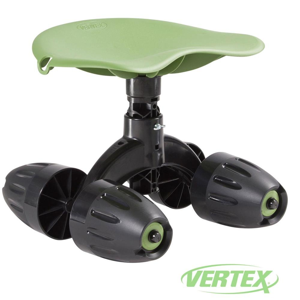 Garden Rocker™ Rolling Comfort Seat™ By Vertex® With Height Adjustable Contoured Swivel Seat and Patented Rocking Wheels - Made In USA -Model GB1300