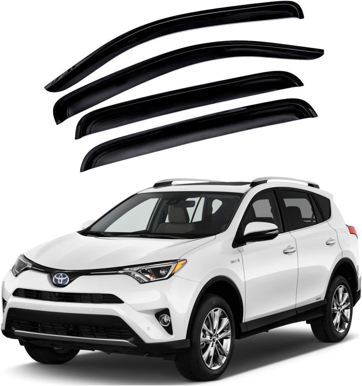 4 pieces Auto Clover Chrome Wind Deflectors Set for Chevrolet Orlando