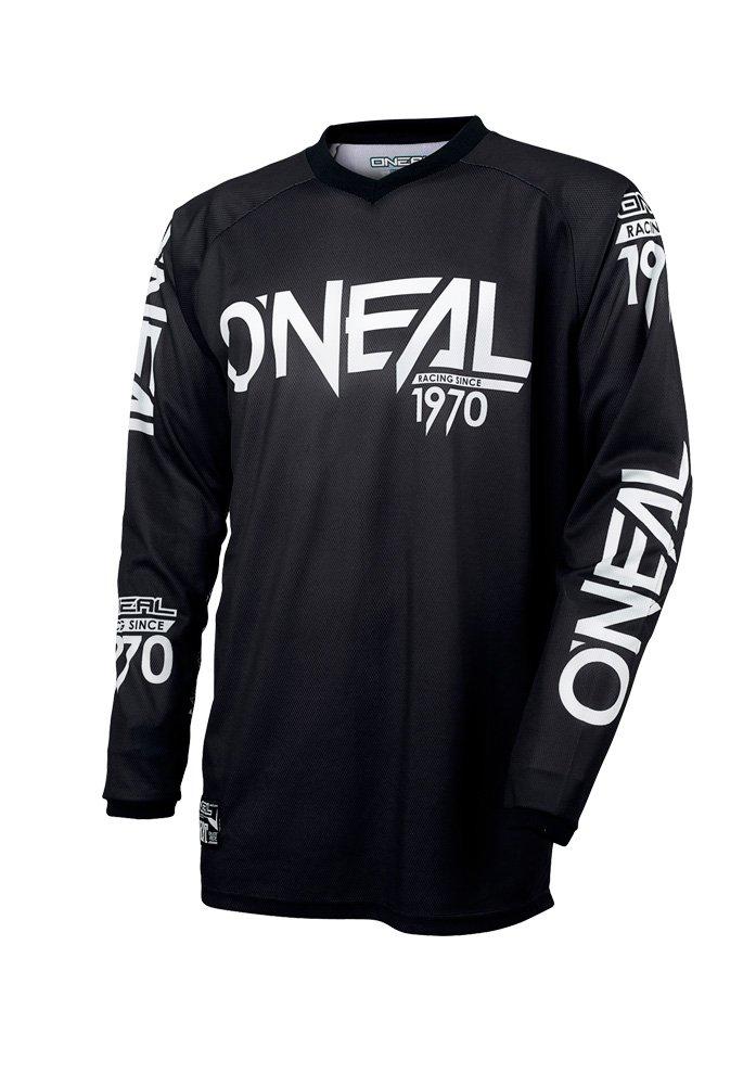 O'Neal Threat Unisex-Adult Jersey (Black/White, Large)