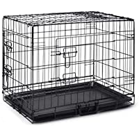 "48"" Pet Dog Cage Collapsible Metal Crate Kennel Portable Puppy Cat Rabbit House"