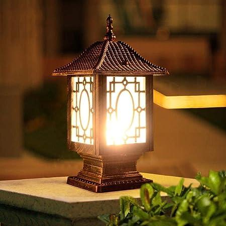 MUMUMI Pilar de pared exterior lámpara del poste de puerta ...