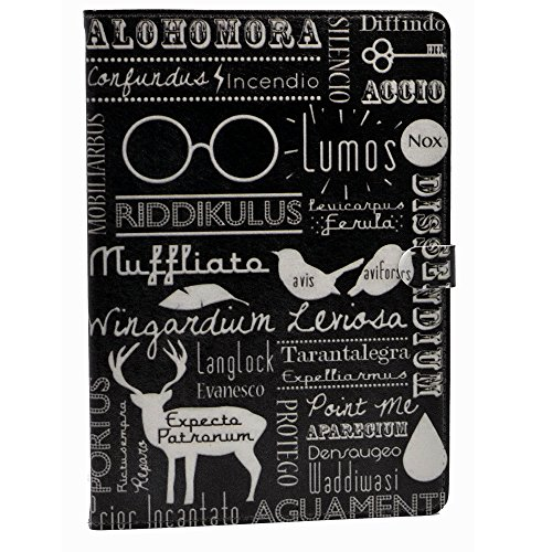 iPad 2017/2018 iPad 9.7 inch Case Magic Spells Alohomora Riddikulus Pattern Leather Flip Stand Case Cover for Apple iPad 9.7-inch