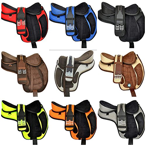 - Y&Z Enterprises All Purpose Synthetic Treeless Freemax English Horse Saddle Tack Get Matching Girth & Strap (17
