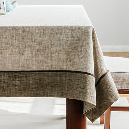 Tinta unita tovaglie per tavoli rettangolo,Rurale cotone lino ...