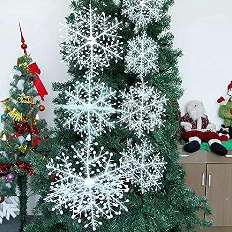 baleba blanco copos de nieve Navidad decoratiats suministros - adornos colgantes para vacaciones Fiesta de Navidad y casa decoratiat (15 cm, ...