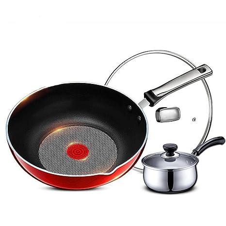 Wok LINGZHIGAN 11 Pulgadas Cocina de inducción de la Estufa ...