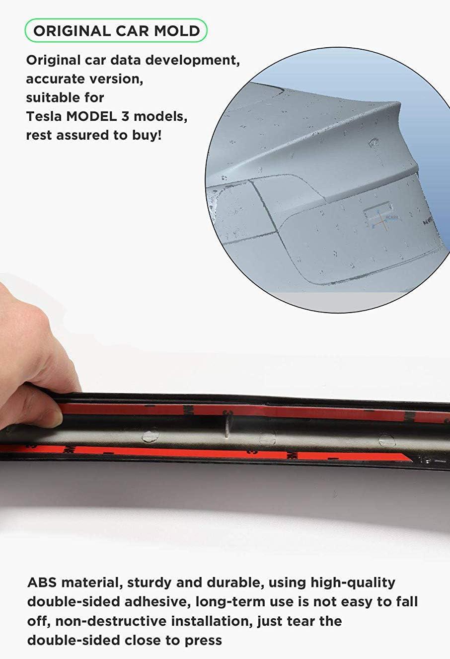 GaofeiLTF Rear Trunk Spoiler Fits for 2017-2020 Tesla Model 3 Sedan 4-Dr Trunk Spoiler Wing Carbon Fiber Style