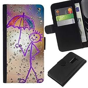 All Phone Most Case / Oferta Especial Cáscara Funda de cuero Monedero Cubierta de proteccion Caso / Wallet Case for LG G2 D800 // Drawing Mother Crayon Art Stick Figure