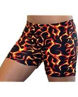 "GemGear Flames Print 4"" Inseam Compression Shorts"