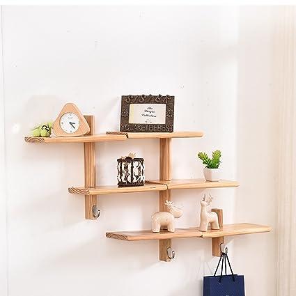 Montaggio Mensole A Muro.Qianda Mensole Da Muro Parete Libreria Mensole Da Muro Montaggio A