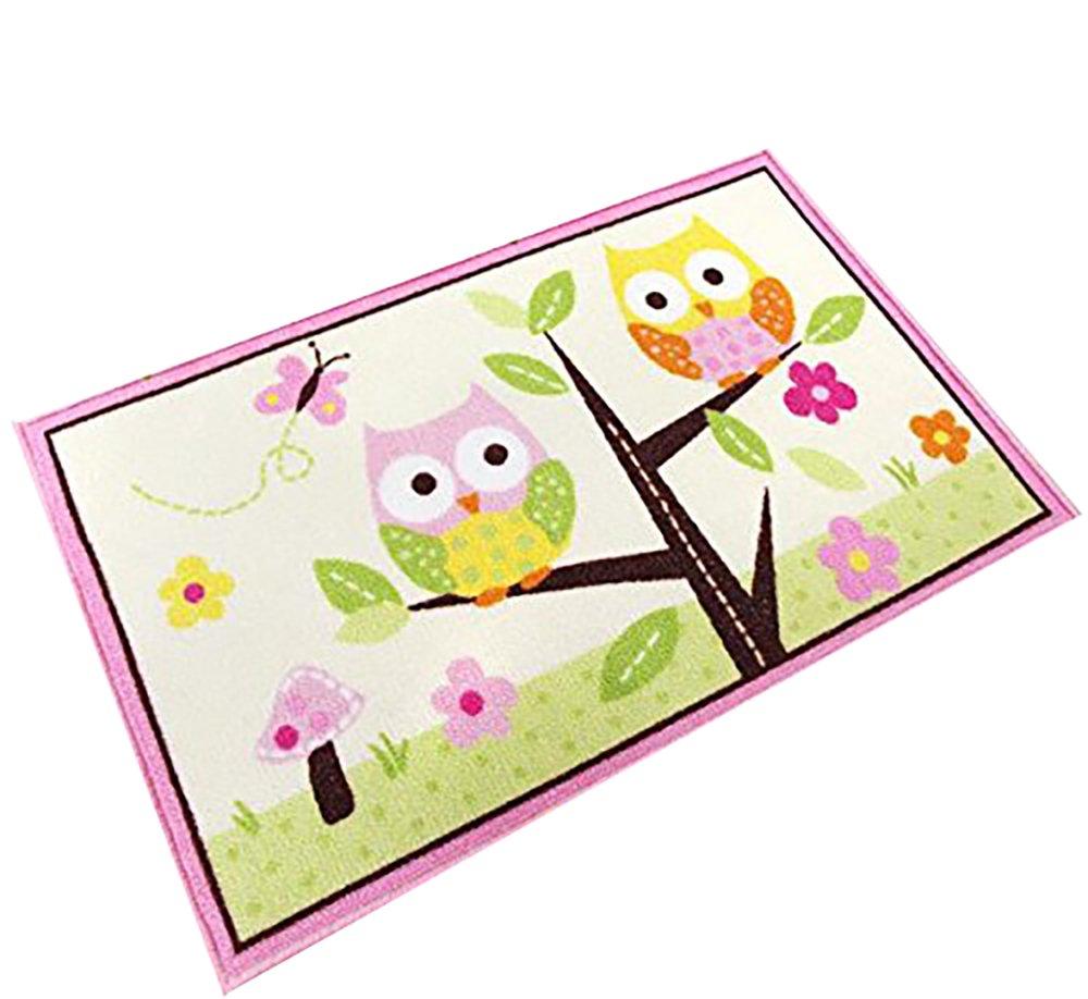 Crystal Emotion Kids Rugs Girl Bedroom Home Textile,Unique Cartoon Owl doormat,Designer Pink Fairy Girls Rug For Living Room,Delicate Butterfly Kids Rug