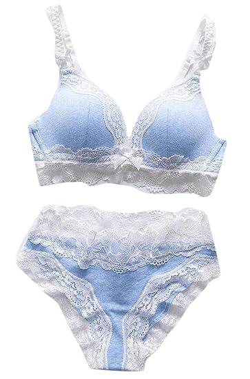 6d0a6b4147 M S W Women s Lace Bras Push Up Underwear Bra Set Lace Bra and Panty at  Amazon Women s Clothing store