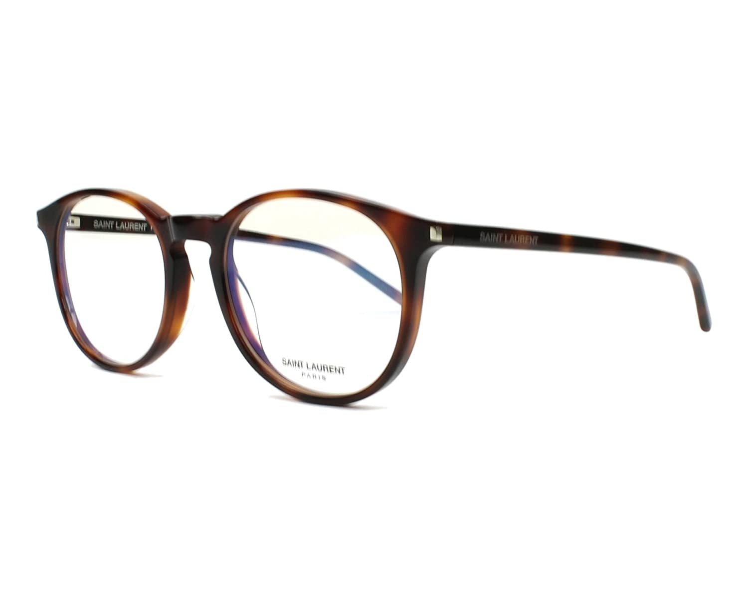 3fc4221a8d SAINT LAURENT SL 106 002 OCCHIALE DA VISTA HAVANA EYEGLASSES SEHBRILLE  UNISEX at Amazon Men s Clothing store