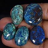 Radheygovind gems 95.10Cts100% Natural Wholesale LOT Blue Azurite 5Pcs Cab Fine Quality Gemstones