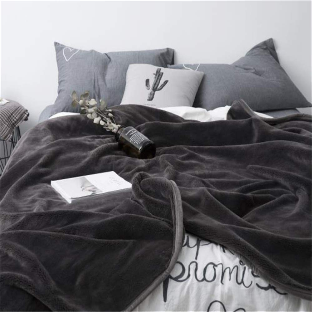 Japanese-Style Simple Method Velvet Blanket Autumn and Winter Thick Solid Color Anti-Static Blanket by iangbaoyo