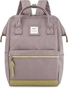 Himawari Travel School Backpack with USB Charging Port 15.6 Inch Doctor Work Bag for Women&Men College Students(123#Lavender)