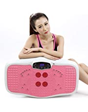 Massage Belts Vibration Power Plate Crazy Fitness Exercise Machine Oscillating Platform with Heating Infrared Physiotherapy,Resistance Bands,Music Slimming Belt