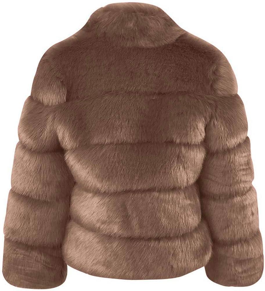 Dames Automne Hiver Confortable Manteau Casual Essentiel Mode Veste Femmes De La Mode Manteau en Fausse Fourrure Stand Automne Hiver Manteau Chaud A