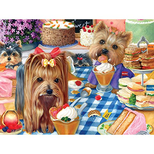 Bits and Pieces - 500 Piece Jigsaw Puzzle for Adults - Yorkshire Pudding - 500 pc Yorkie Puppy Dog Jigsaw by Artist Brook Faulder