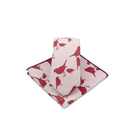Littlefairy Hombre Designer Corbata,Lazo de Lino del algodón Mens ...